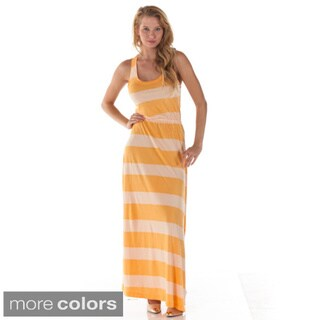Women's Striped Sleeveless Maxi Dress
