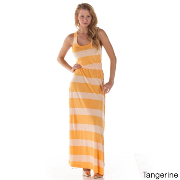 Women's Striped Sleeveless Maxi Dress