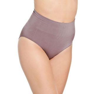Hot Bottoms Women's Grey Seamless Control Brief Shaper