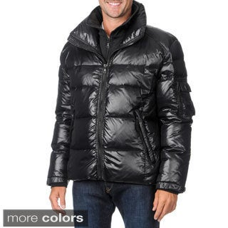 S13/NYC Men's Down Coat with Soft-shell Bib