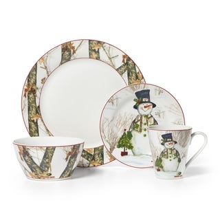Mossy Oak Holiday 16-piece Dinnerware Set