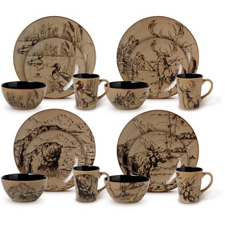Mossy Oak 16-piece Assorted Dinnerware Set