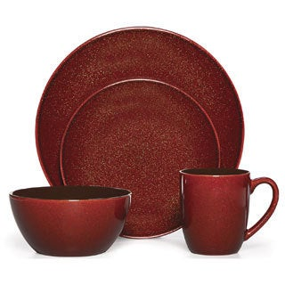 Mikasa Gourmet Basics Lumina Red 16-piece Dinnerware Set