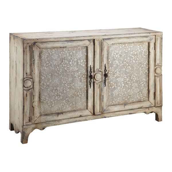 Brooke Aged Cream Accent Cabinet