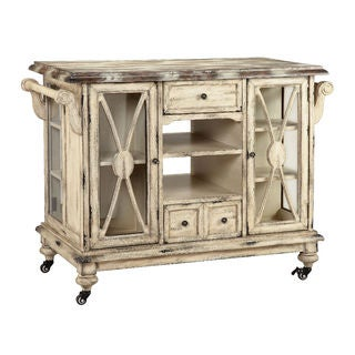 Dorset VIntage Distressed Vanilla Bean Kitchen Island