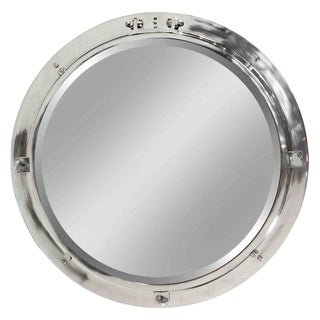 Bonavista Nickel-finished Aluminum Porthole Wall Mirror