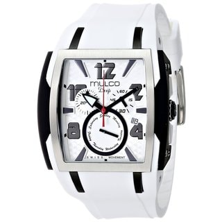 Mulco Men's 'Deep' Stainless steel and White silicone Watch