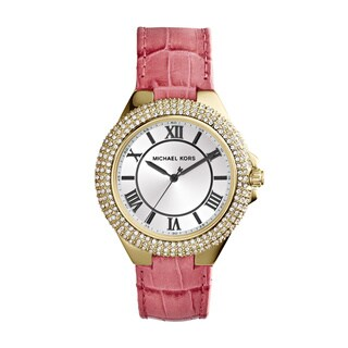 Michael Kors Women's MK2329 'Camille' Slim Pink Leather Watch