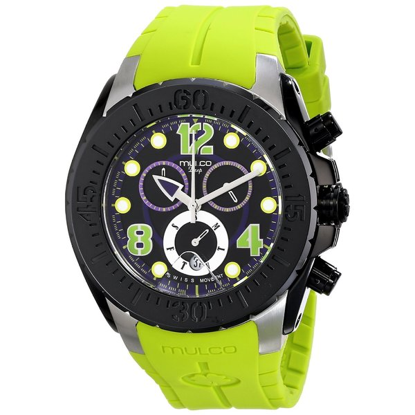 Mulco Men's 'Deep' Lime Green Silicone Watch