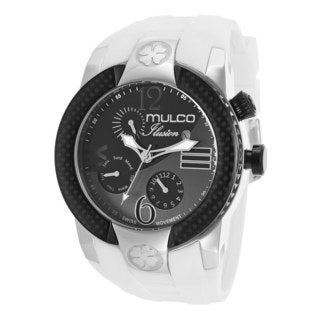 Mulco Men's 'Ilusion' Black/ White Silicone Watch