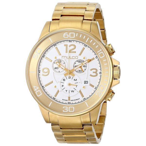 Mulco Men's 'Ferro' Yellow Goldplated Stainless Steel Watch 13805026