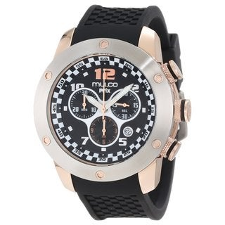 Mulco Men's 'Prix' Stainless and Rose gold plated Watch