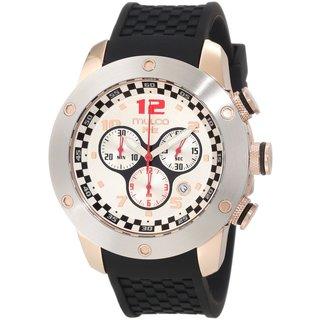 Mulco Men's 'Prix' Chronograph Black Silicone Watch