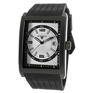 Swiss Legend Men's SL-40012-BB-02S Limousine Silver Dial Black Silicone Watch