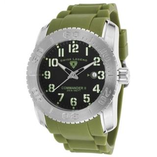 Swiss Legend Men's SL-10068-01-MGRSA Commander Green Silicone Watch