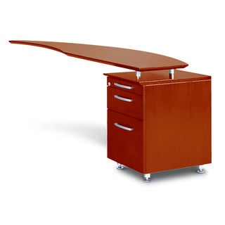 Mayline Napoli Series Right-handed Curved Desk Return with Pedestal Box File