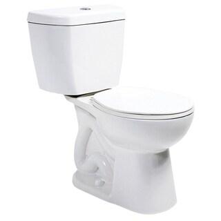 Niagara Stealth White 0.8 GPF Round Bowl and Tank Toilet Combo
