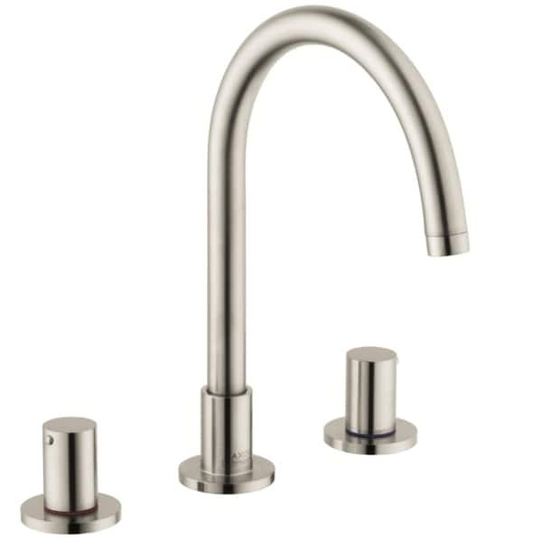 hansgrohe axor uno widespread brushed nickel bathroom faucet. Black Bedroom Furniture Sets. Home Design Ideas