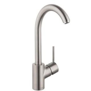 Hansgrohe Talis S Higharc Steel Optik Kitchen Faucet