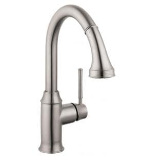 Hansgrohe Talis C Prep Steel Optik Kitchen Faucet with Pulldown Spray