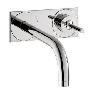 Hansgrohe Axor Uno Wall-mounted Single Handle faucet with Baseplate Chrome