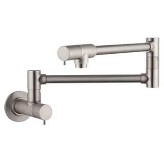 Hansgrohe Talis S Wall-mounted Steel Optik Pot-filler faucet