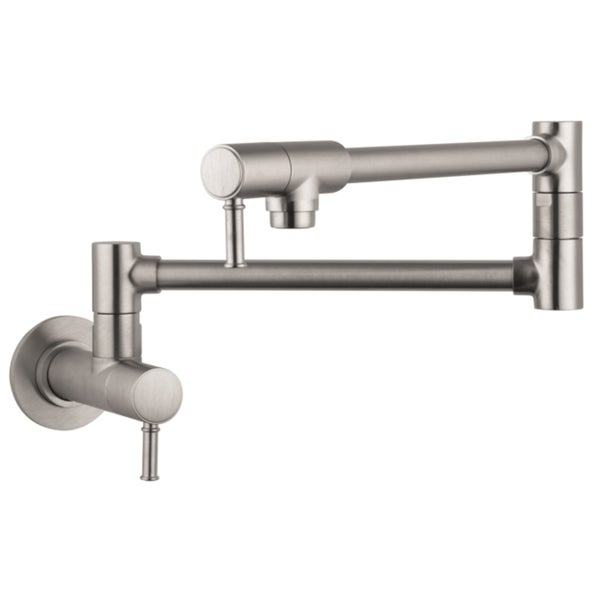 Hansgrohe Talis C Wall-mounted Steel Optik Pot-filler Fauect
