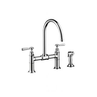 Hansgrohe Axor Montreux Bridge Chrome Kitchen with Sidespray Lever Handle