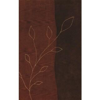 Manor Two-tone Brown/ Nutmeg Rectangular Area Rug (5' x 7'9)