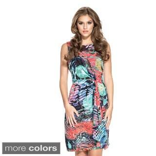 Women's Asymmetrical Side Drape Dress