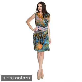 Women's V-neck Side Twist Dress