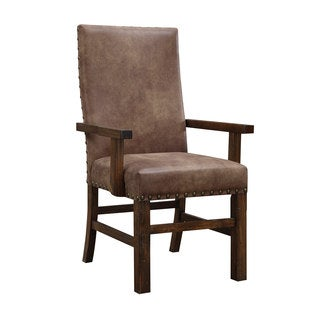 Emerald Upholstered Parson Nailhead Arm Chair (Set of 2)