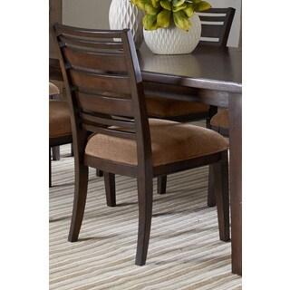 Chestnut Brown Wood Back Upholstered Side Chair (Set of 2)