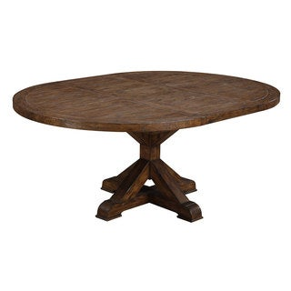 Emerald Rustic Weathered Oval Dinette Table