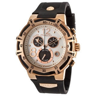 Mulco Women's 'Bluemarine' Rose Goldplated Steel Chronograph Watch