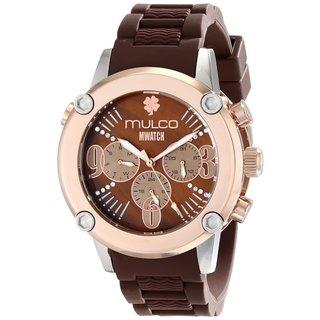 Mulco Women's 'Mwatch' Goldplated Steel Chronograph Watch