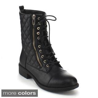 Refresh Women's 'Dason-07' Mid-calf Combat Boots