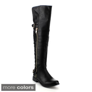 Refresh Women's 'Mercury-01' Over-the-Knee Riding Boots