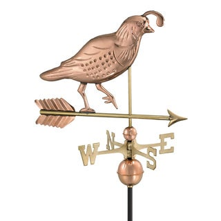 Good Directions Polished Copper Quail Weathervane