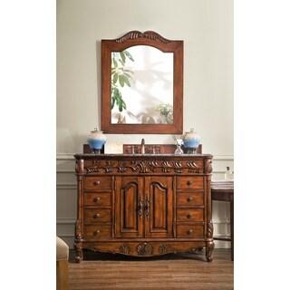 James Martin Furniture Classico Cherry 48-inch Single Granite Vanity Set