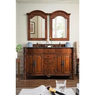 James Martin Furniture Classico Cherry 60-inch Double Granite Vanity