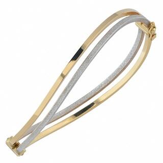 Fremada 10k Two-tone Gold 6mm Double Twist Bangle
