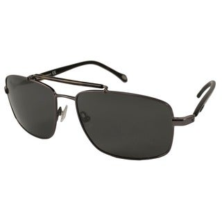 Fossil Men's Barry Polarized/ Rectangular Sunglasses