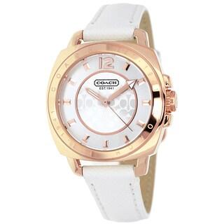 Coach Women's 14501601 Boyfriend Rosegold/ White Leather Watch