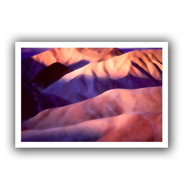 Dean Uhlinger 'Death Valley Sunrise' Unwrapped Canvas