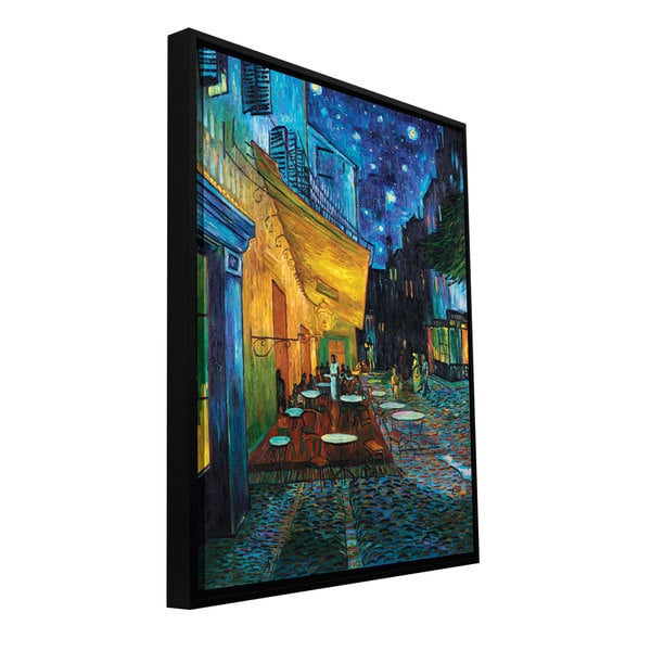 ArtWall Vincent van Gogh 'Cafe terrace at Night' Floater framed gallery-wrapped Canvas
