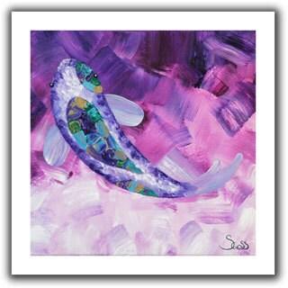 Shiela Gosselin 'Purple Koi' Unwrapped Canvas