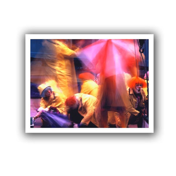 Dean Uhlinger 'Clowns in Fire Drill' Unwrapped Canvas