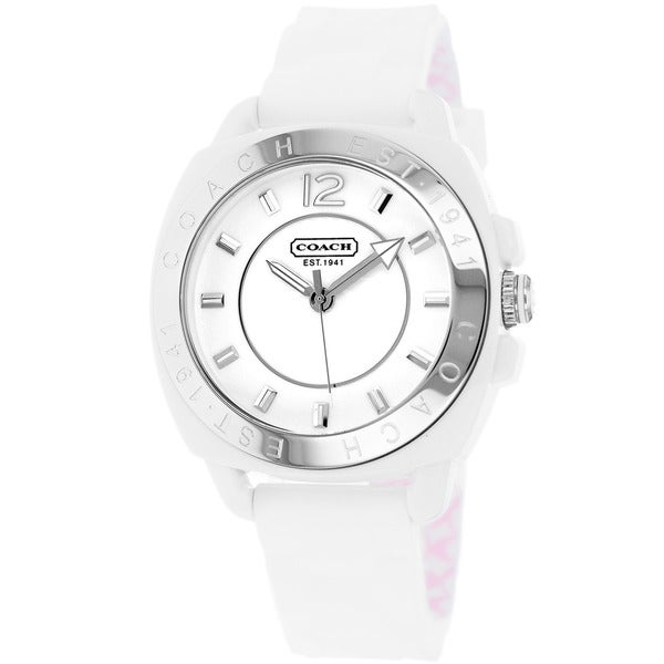 Coach Women's 14501352 White Silicone Boyfriend Watch