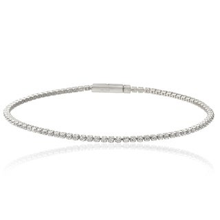 Tressa Collection Sterling Silver Cubic Zirconia Bracelet
